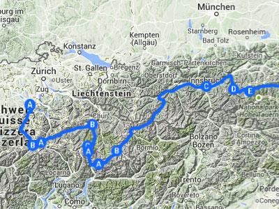 Sommer-Alpen-Tour. Die ultimative Liegerad-Bergorgie, Geplant für Sommer 2015