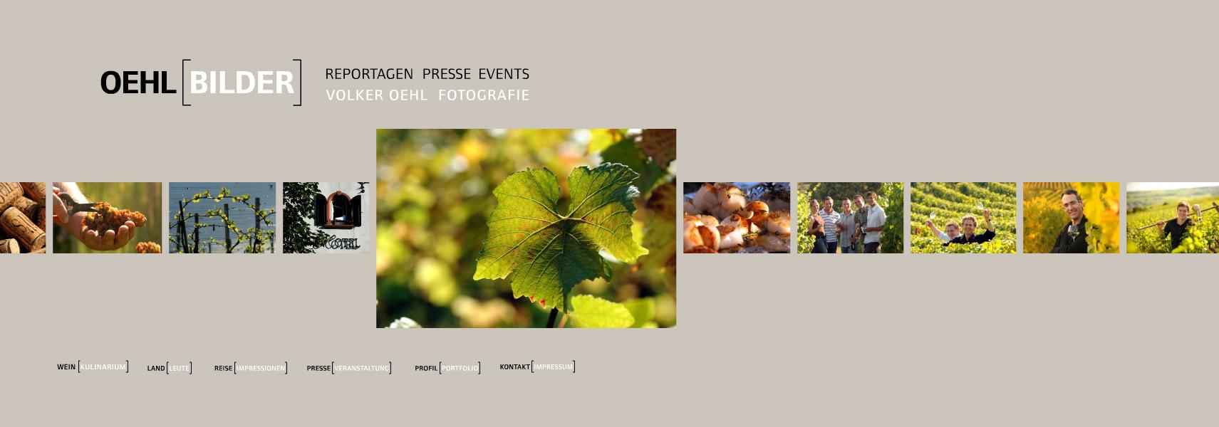 Oehlbilder.com. Flash-WebSite für den Fotograf Volker Oehl. Mit selbst programmiertem CMS.