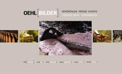 Oehlbilder.com. Flash-WebSite für einen Fotografen.