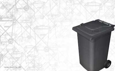 eSchrott. Kampagne für getrennte Entsorgung von Elektroschrott.