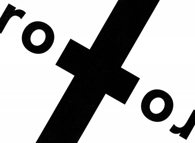 Rotor. Eine sehr schöne Typografie-Aufgabe aus dem ersten Semester.