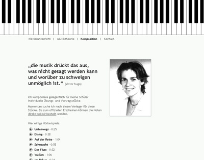 Judit-Feigl.de. WebSite for the piano teacher Judit Feigl.