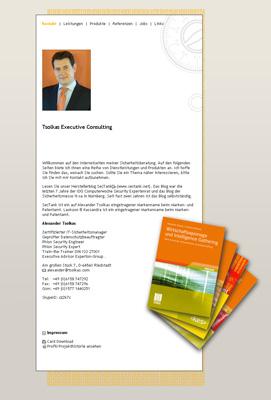 Tsolkas.com. Site IT biztonsági tanácsadója Alexander Tsolkas.