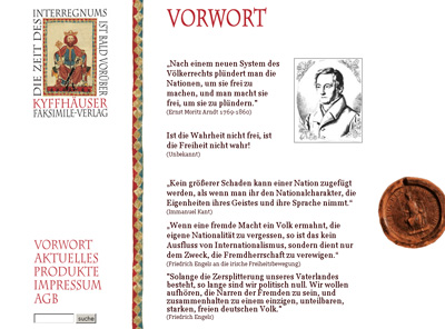Kyffhaeuser-Verlag.de. Shop for antiquarian books.