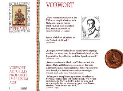 Kyffhaeuser-Verlag.de. Shop for antiquarian books.