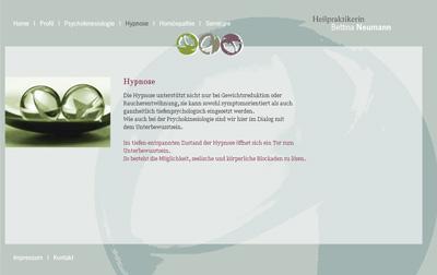 HeilpraktikerinNeumann.de. WebSite for the healer Bettina Neumann.