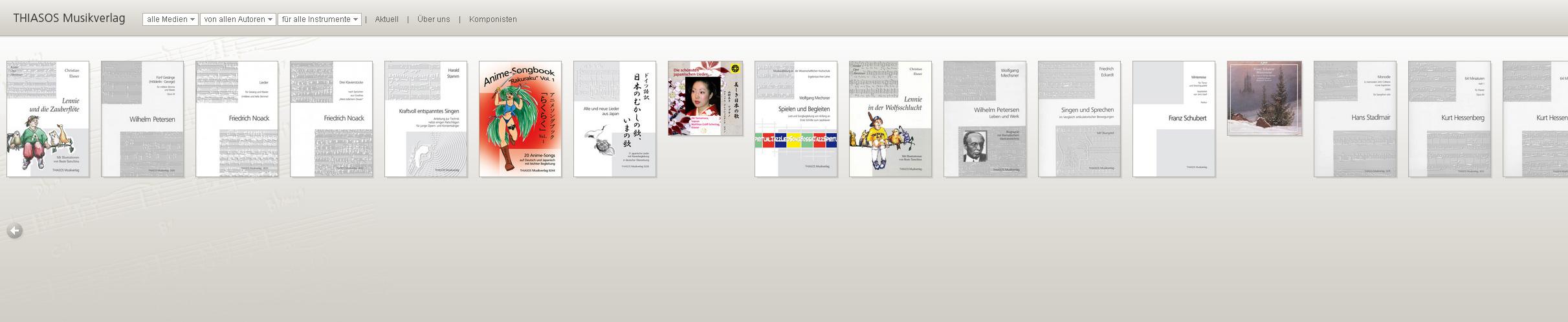 Thiasos.de. WebShop für den Thiasos Musikverlag. Umgesetzt mit Easy-Cart.