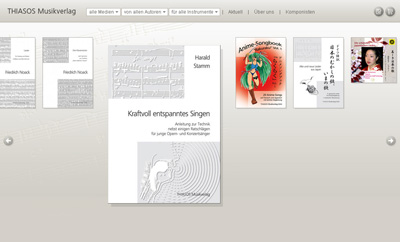 Thiasos.de. WebShop for Thiasos music publisher.