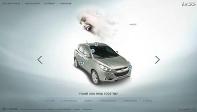 Hyundai ix35. Flash microsite két fázisban.
