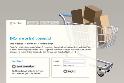 Easy Cart. The Super-Simple-Shopsystem