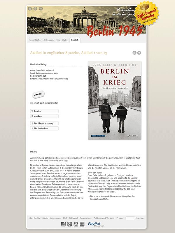 Berlin-1945.de. Book shop on the subject of National Socialism.