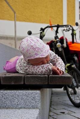Baby an Bord. Ungarn-Radtour 2011.