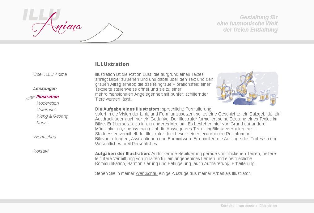 IlluAnima.de. WebSite für den Illustrator Volkmar Döring. In Zusammenarbeit mit neko.