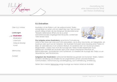 IlluAnima.de. A honlap az illusztrátor Volkmar Döring.