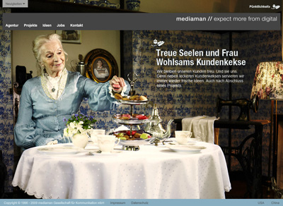 Mediaman.de. Flash site az ügynökség.
