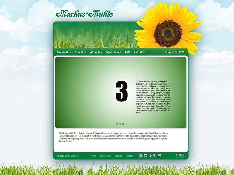 Markusmuehle.com. Teil einer mehrsprachigen ModX-Multisite.