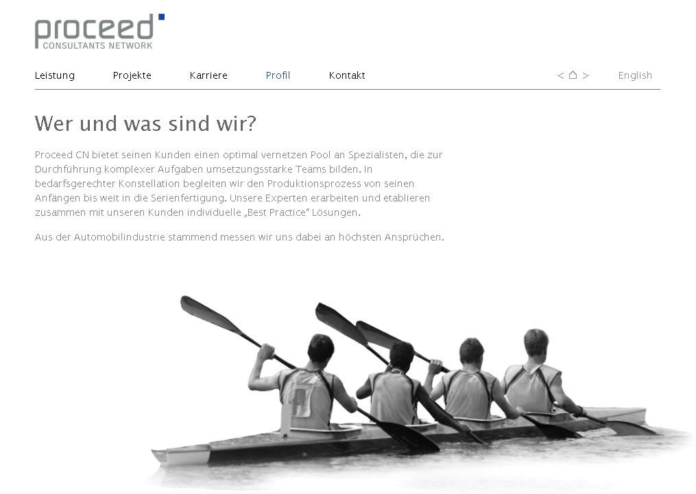 ProceedCN.com. WebSite for a consultants network. In collaboration with Sabine Neumann .