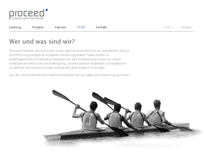 ProceedCN.com. WebSite für ein Consultants Network.