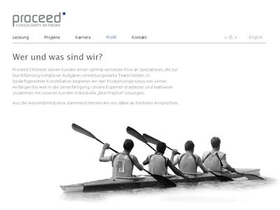 ProceedCN.com. honlap egy tanácsadó cégek hálo.