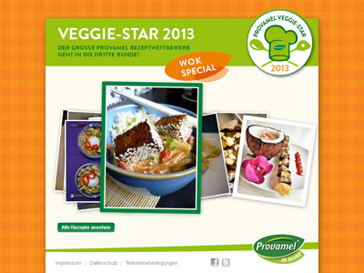 Provamel-Veggie-Star.de. Provamel Rezeptwettbewerb 2013, Thema Wok.