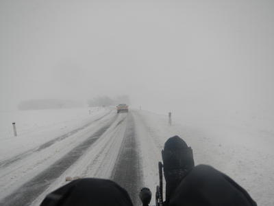 Alpine Winter Tour. Three passes and snowstorms, March 2013