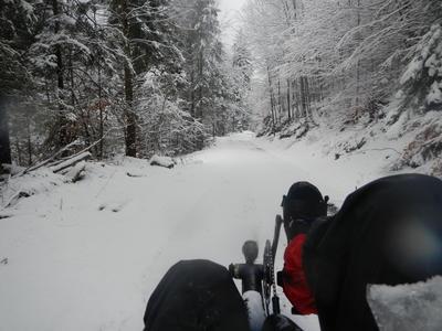 Alpok téli túra. Három halad és hóvihar, március 2013
