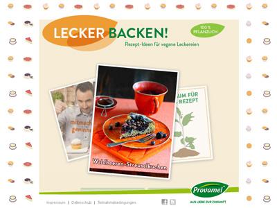 Provamel-Sweet-Mania.de. Provamel recept gyűjtemény a vegán sütemények.