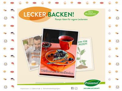 Provamel-Sweet-Mania.de. Provamel Rezeptsammlung für veganes Gebäck.