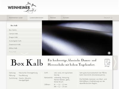 Weinheimer-Leder.com. ModX WebSite for the germ-cell of the Freudenberg concern.