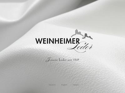 Weinheimer-Leder.com. ModX-WebSite für die Keimzelle des Freudenberg-Konzerns.