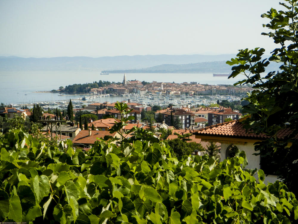 Lijepa Istra. Mountains and the Adriatic Sea in Croatia, July 2013