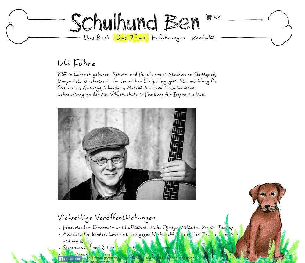Schulhund-Ben.de. WordPress téma egy gyerekkönyv.