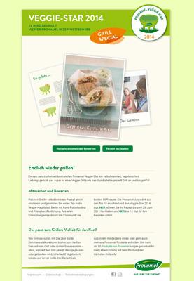 Provamel-Veggie-Star.de. Provamel recipe contest 2014, topic: barbecue.