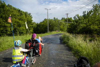 Rain cycling along Isar and Danube, May 2014.