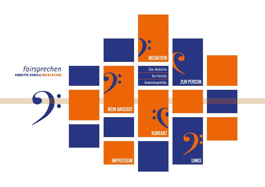 fairsprechen.com. WebSite for the mediator Annette Schilli. In collaboration with Kirstin Hövermann.