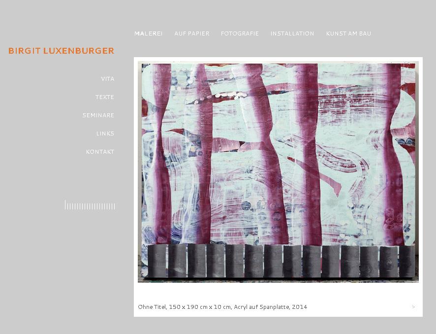 Bilux.cc. Minimalistic WordPress Theme for the artist Birgit Luxenurger.