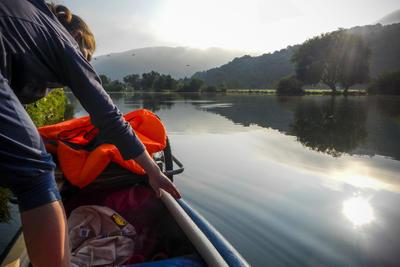 Pregnancy-Canoeing. Down the Rhine, up the Lahn. Summer 2015.